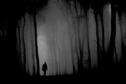 man_in_a_dark_forest_with_fog_by_macinivnw-d68mxhc