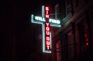num32-23sin-will-find-you-out-sign