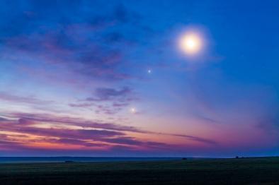 Moon with Venus & Jupiter (July 14, 2012)