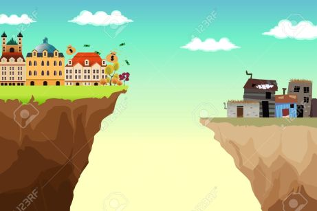 67685960-a-conceptual-vector-illustration-of-gap-between-rich-and-poor
