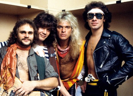 Photo of VAN HALEN and Michael ANTHONY and Eddie VAN HALEN and David Lee ROTH and Alex VAN HALEN
